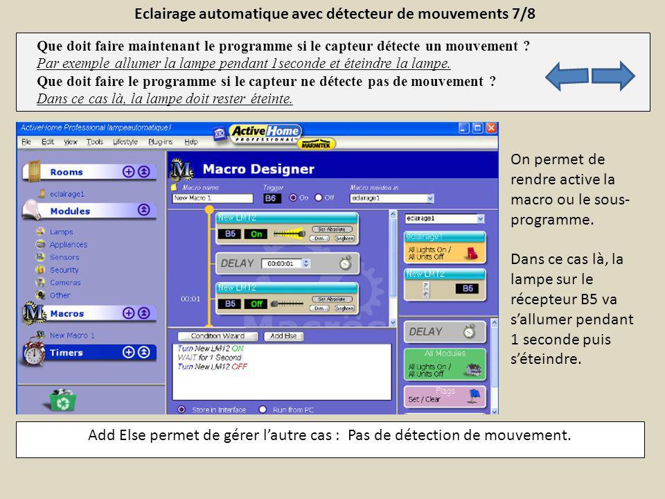 Eclairage automatique avec détecteur de mouvements 7/8