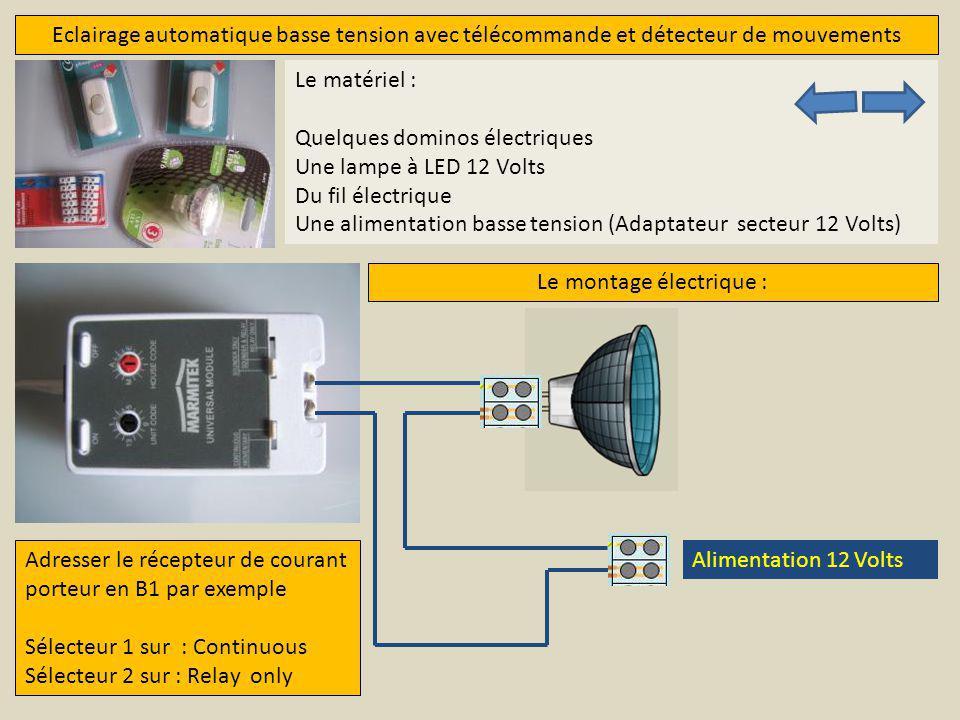 Le montage électrique :