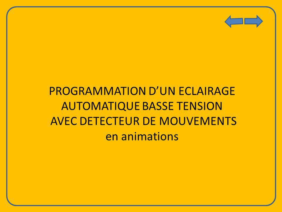 PROGRAMMATION D'UN ECLAIRAGE AUTOMATIQUE BASSE TENSION