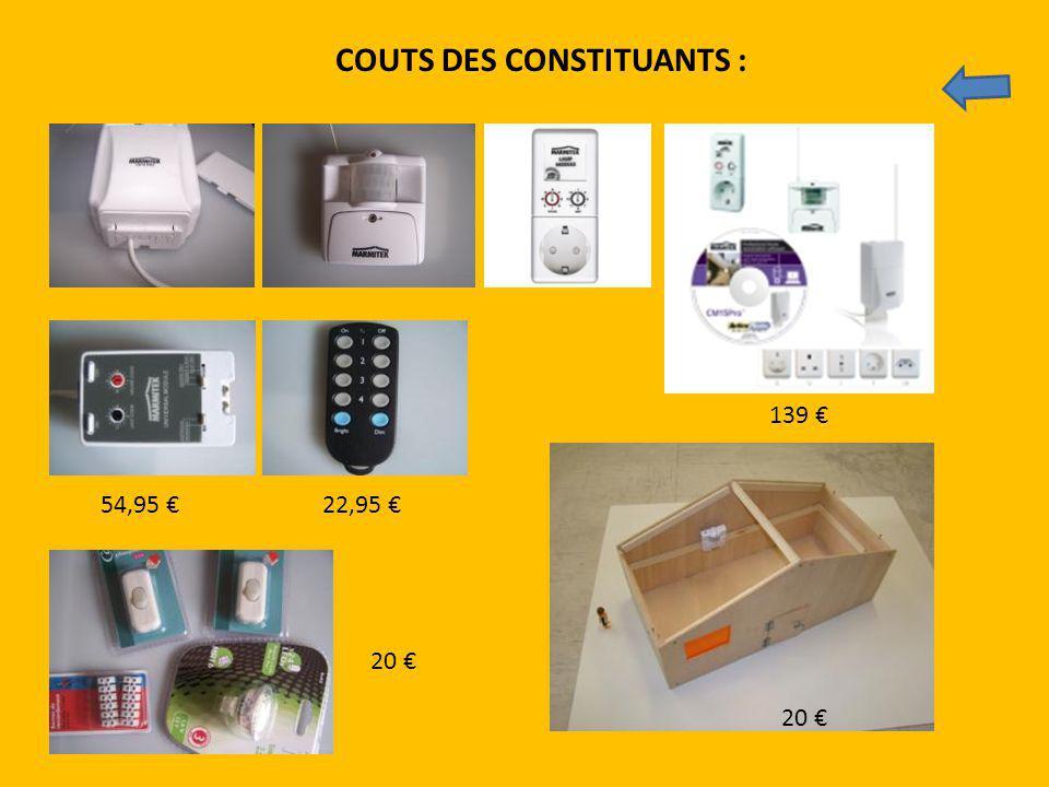 COUTS DES CONSTITUANTS :