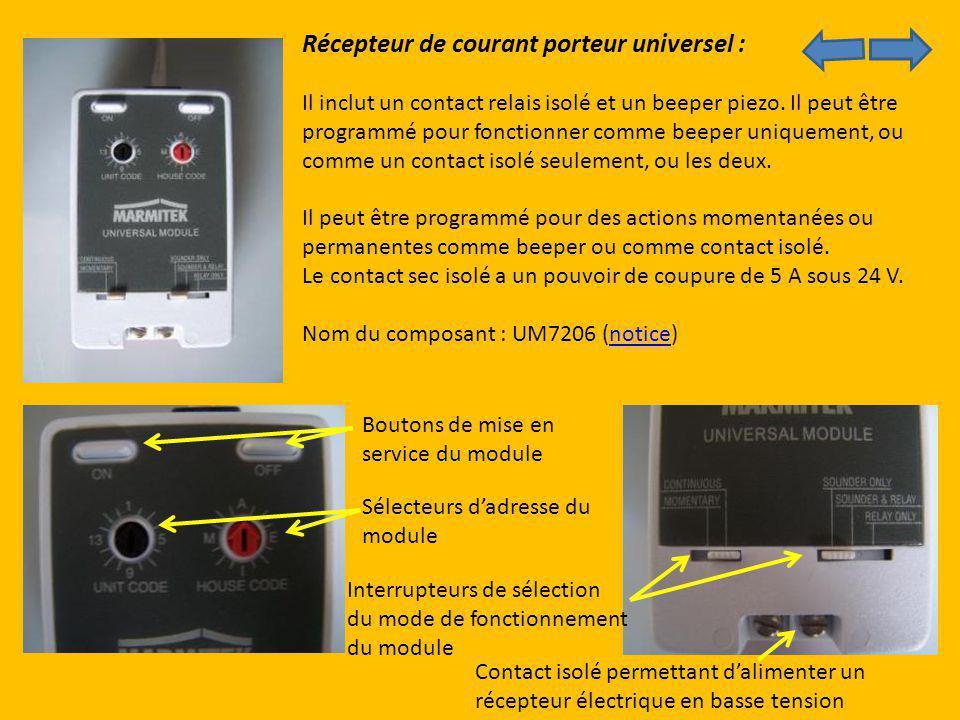 Récepteur de courant porteur universel :