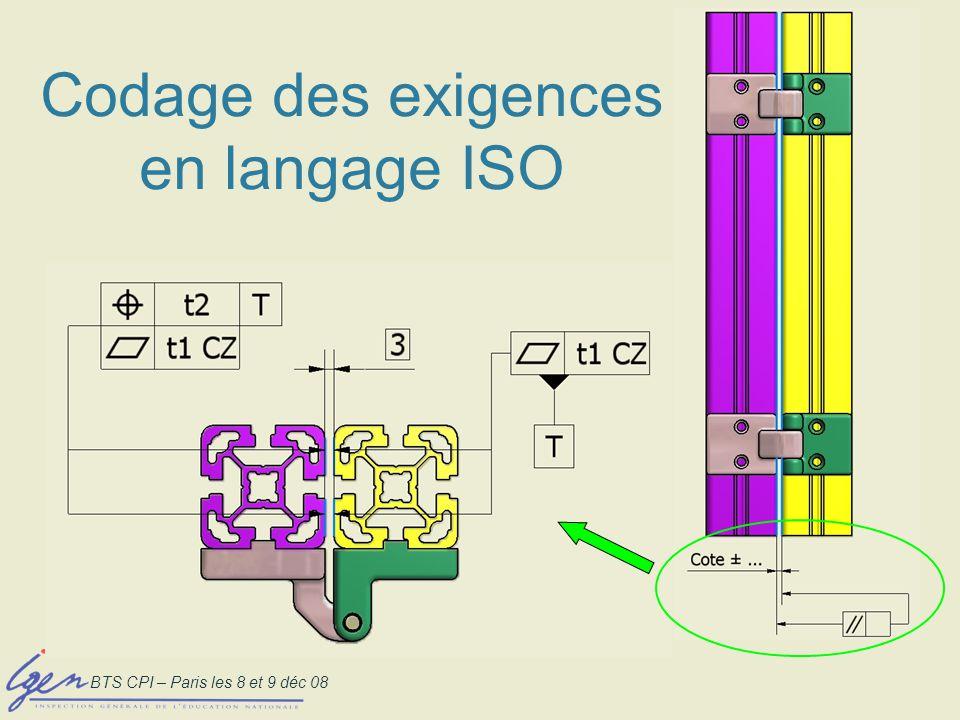 Codage des exigences en langage ISO