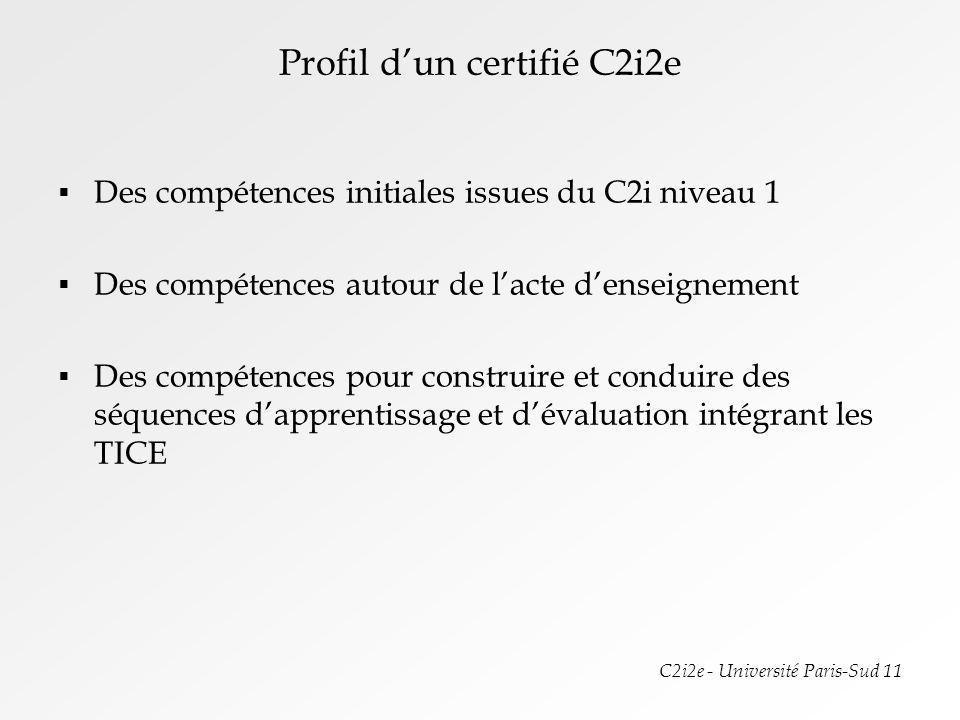 Profil d'un certifié C2i2e
