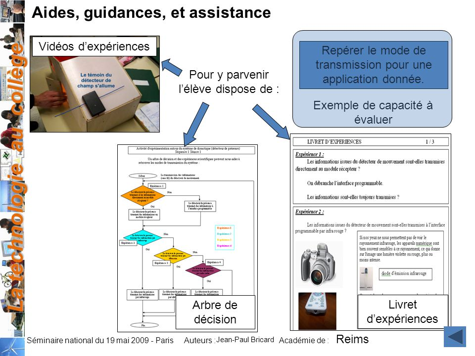 Aides, guidances, et assistance