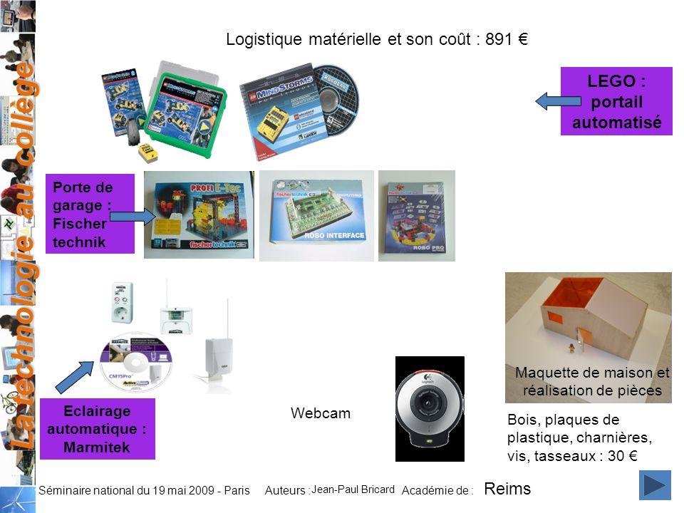 LEGO : portail automatisé Eclairage automatique : Marmitek