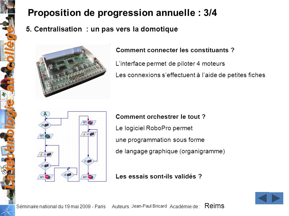 Proposition de progression annuelle : 3/4