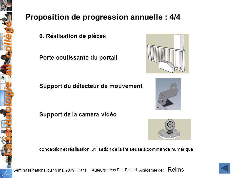 Proposition de progression annuelle : 4/4