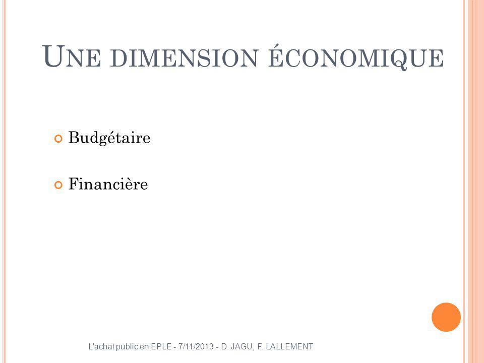 Une dimension économique