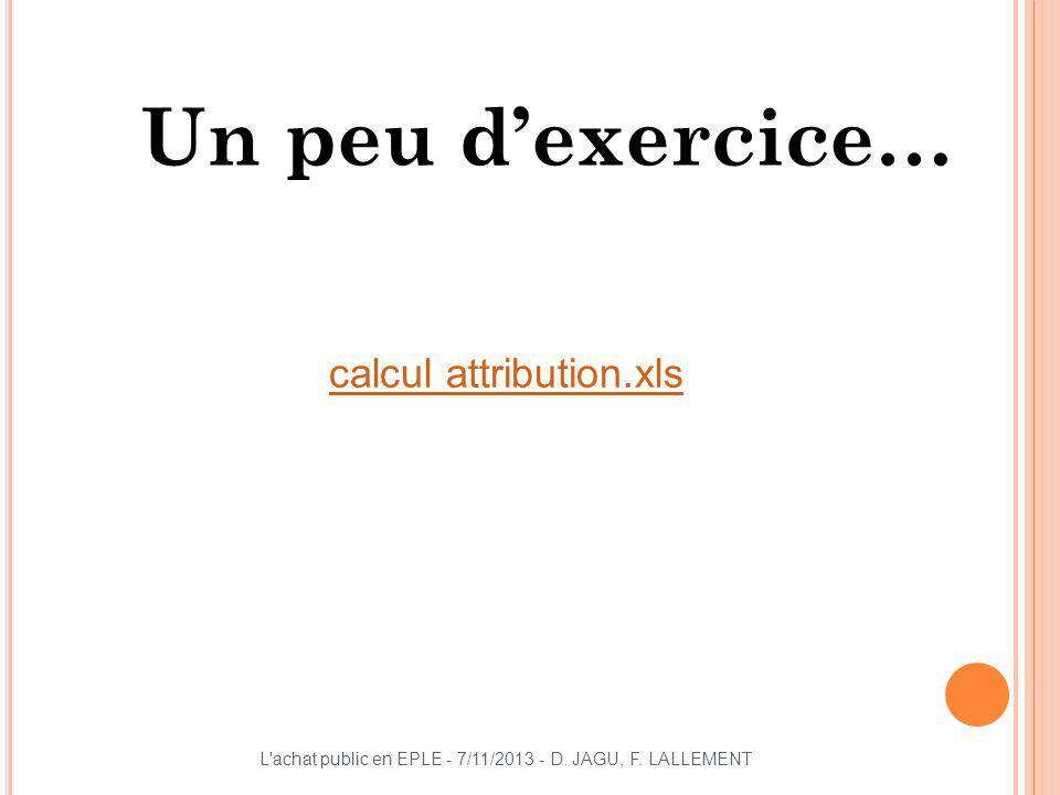 Un peu d'exercice… calcul attribution.xls