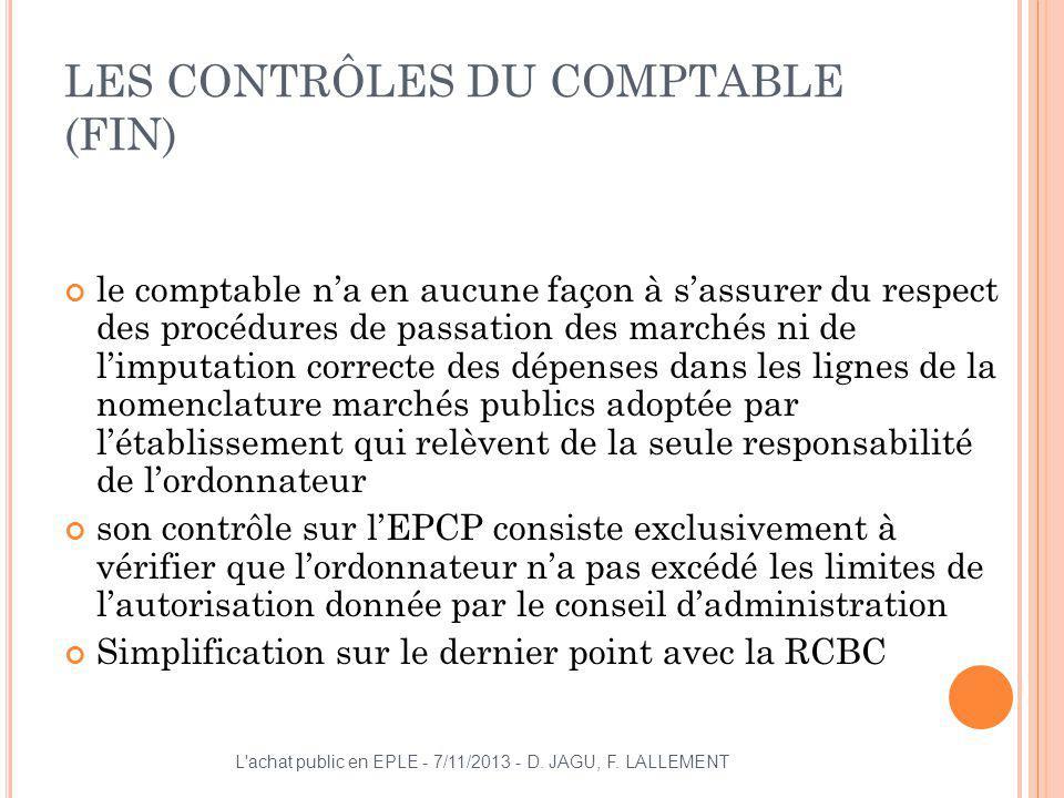 LES CONTRÔLES DU COMPTABLE (FIN)