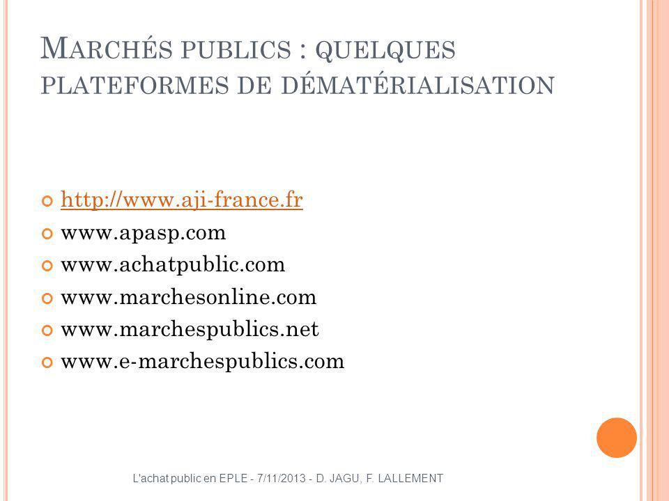 Marchés publics : quelques plateformes de dématérialisation
