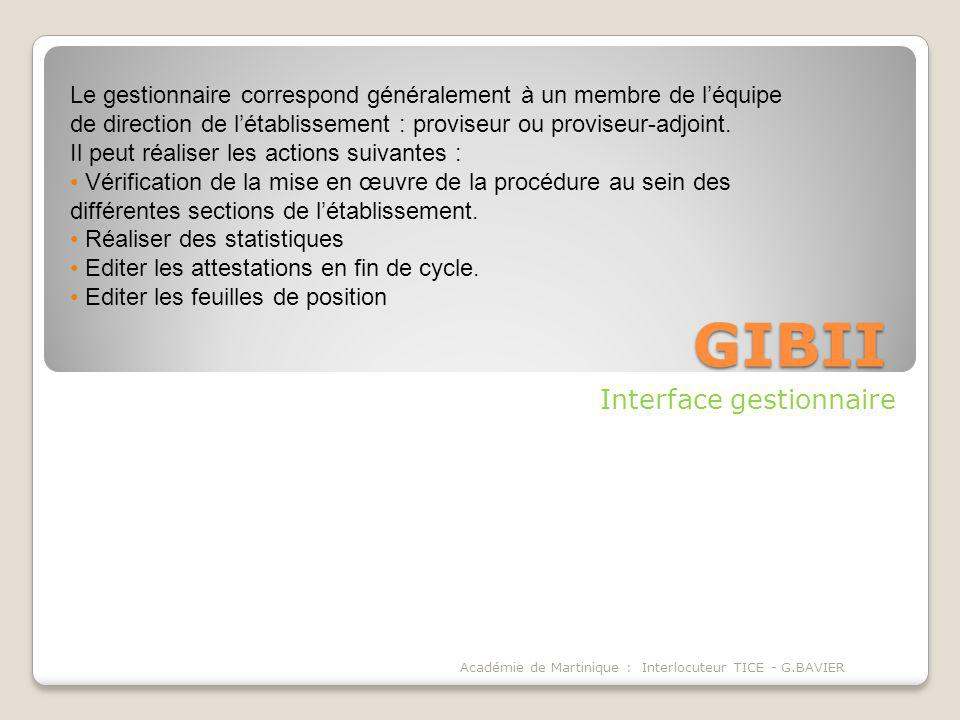 Interface gestionnaire