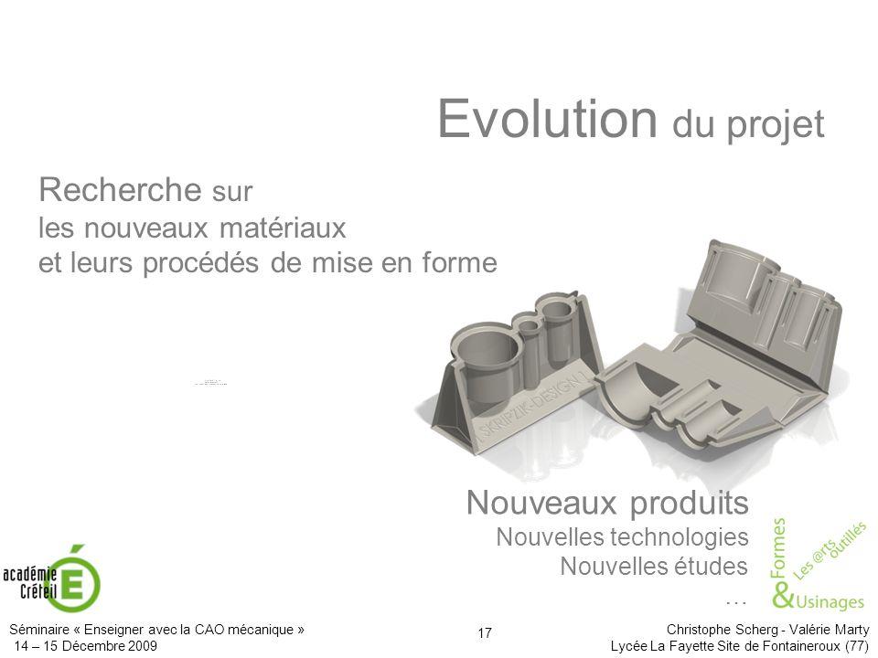 Evolution du projet Recherche sur Nouveaux produits