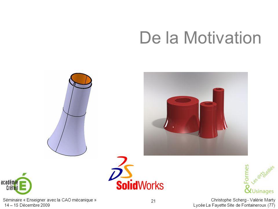 De la Motivation Il apporte aussi l'image, le rendu réaliste des projets.
