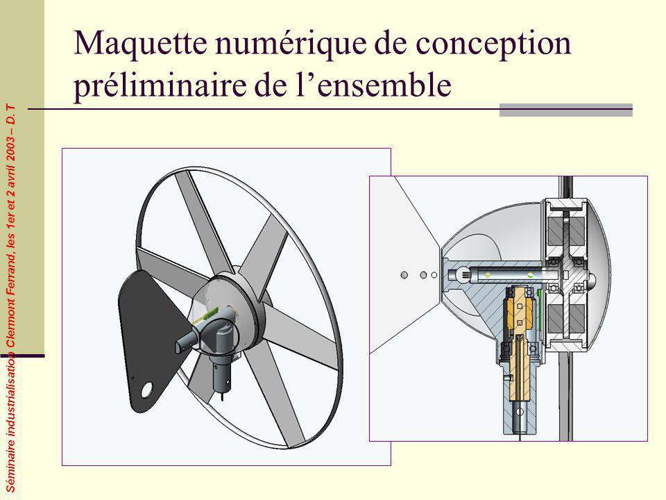 Maquette numérique de conception préliminaire de l'ensemble