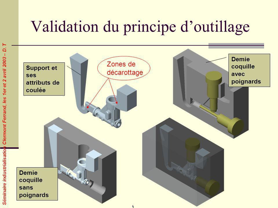 Validation du principe d'outillage