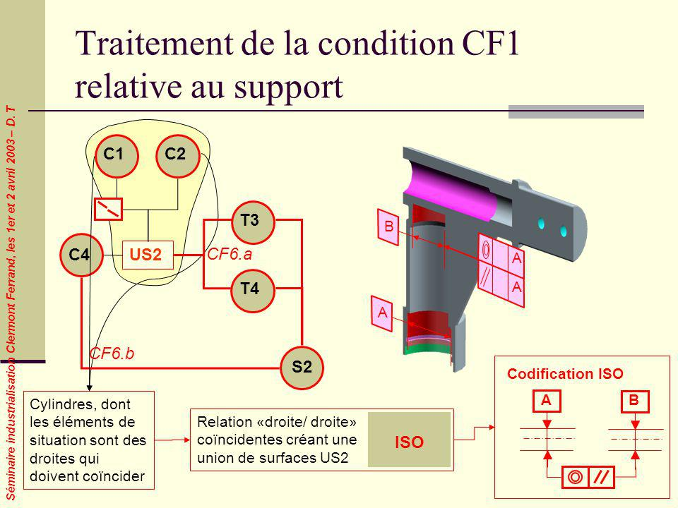 Traitement de la condition CF1 relative au support
