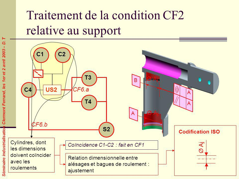 Traitement de la condition CF2 relative au support