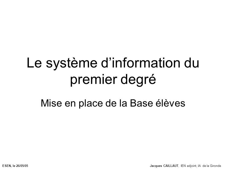 Le système d'information du premier degré