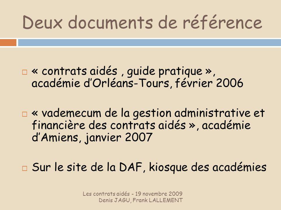 Deux documents de référence
