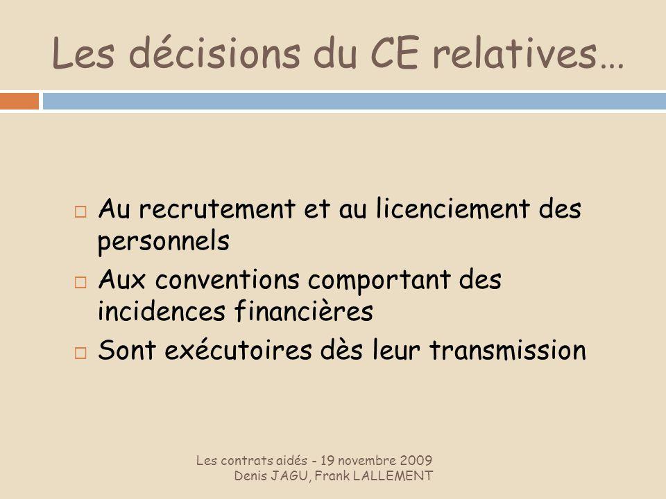 Les décisions du CE relatives…