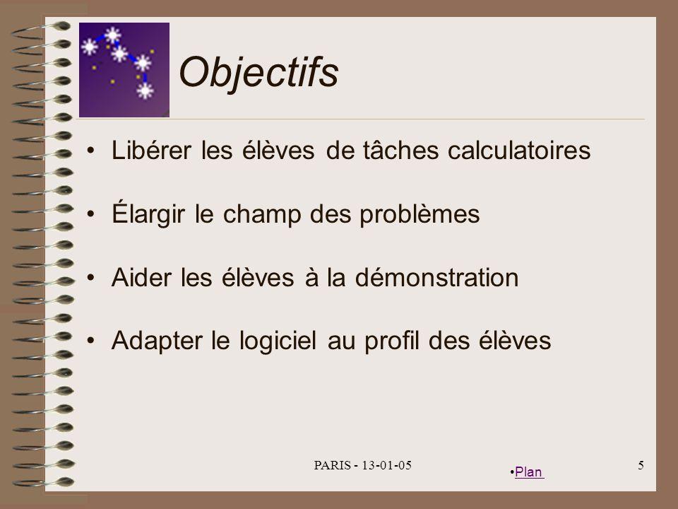 Objectifs Libérer les élèves de tâches calculatoires