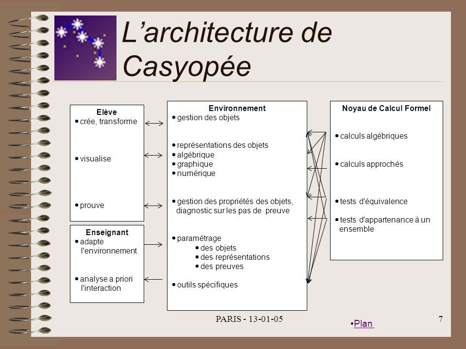 L'architecture de Casyopée