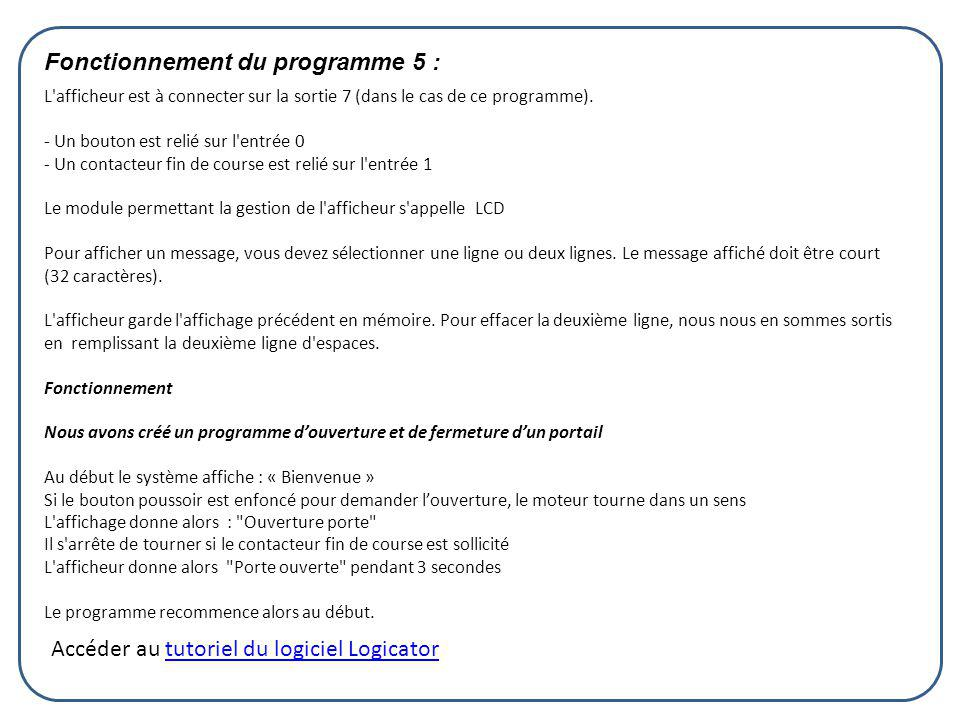 Fonctionnement du programme 5 :