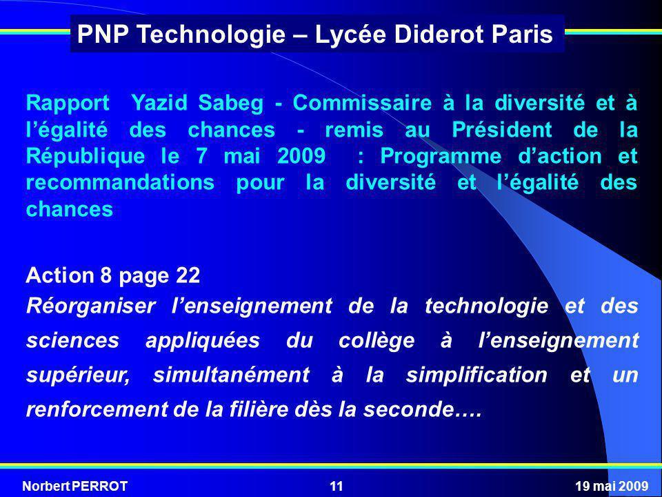 Rapport Yazid Sabeg - Commissaire à la diversité et à l'égalité des chances - remis au Président de la République le 7 mai 2009 : Programme d'action et recommandations pour la diversité et l'égalité des chances