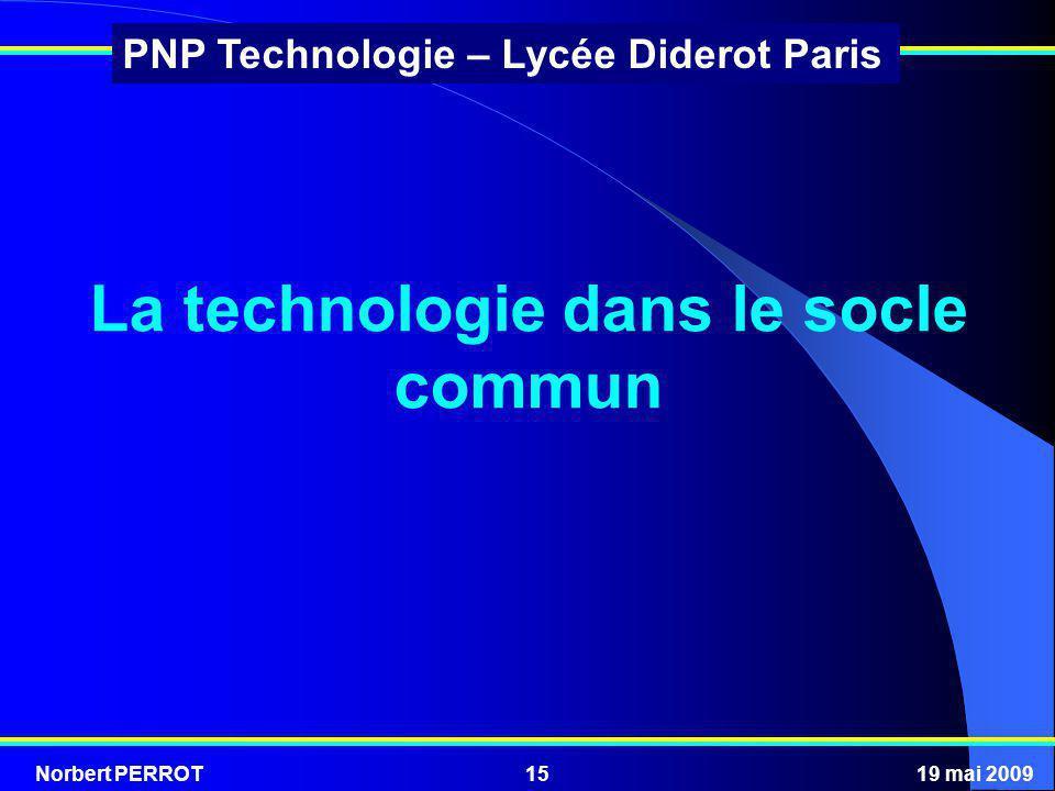 La technologie dans le socle commun
