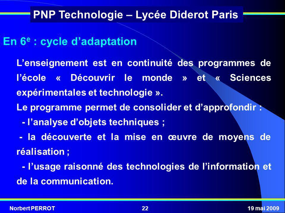 En 6e : cycle d'adaptation