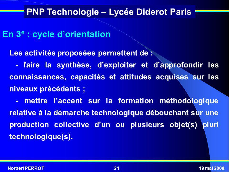 En 3e : cycle d'orientation