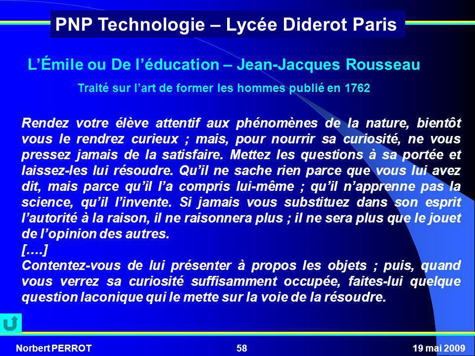 L'Émile ou De l'éducation – Jean-Jacques Rousseau