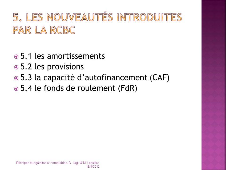 5. Les nouveautés introduites par la RCBC
