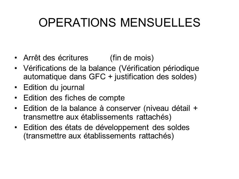 OPERATIONS MENSUELLES