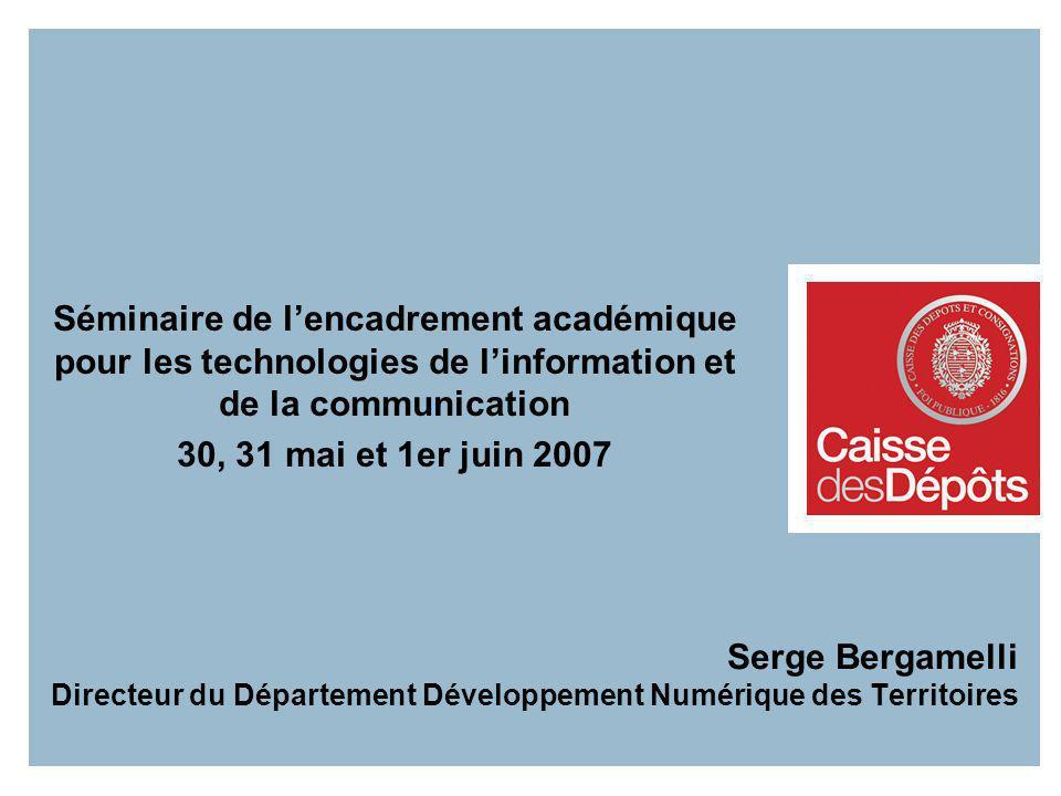 Séminaire de l'encadrement académique pour les technologies de l'information et de la communication