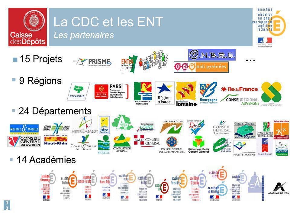 La CDC et les ENT Les partenaires