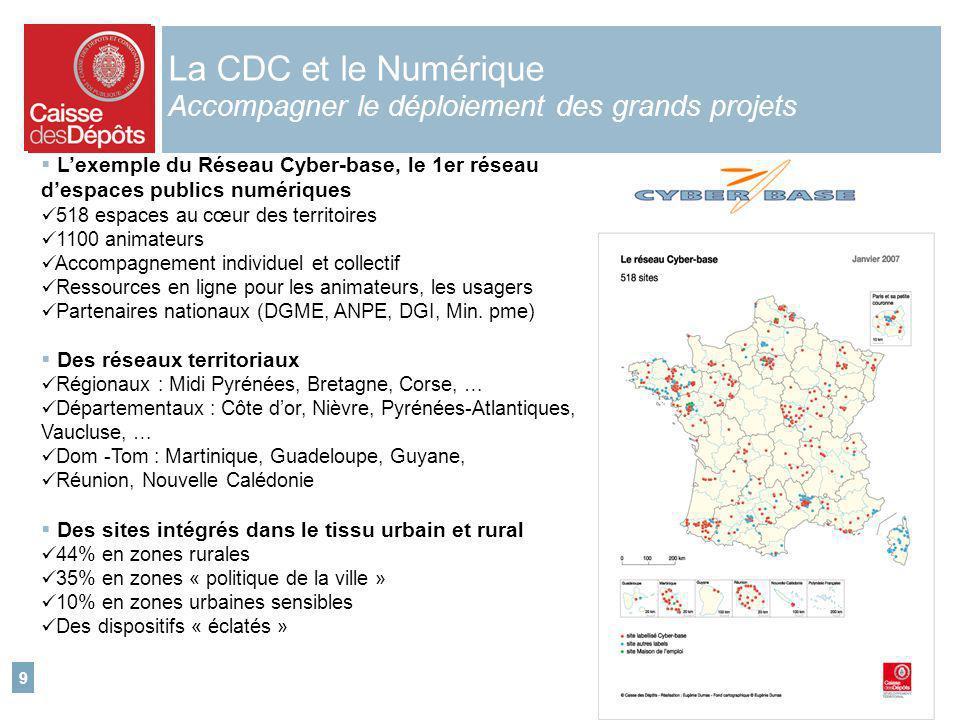 La CDC et le Numérique Accompagner le déploiement des grands projets
