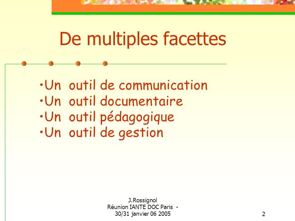 J.Rossignol Réunion IANTE DOC Paris - 30/31 janvier 06 2005