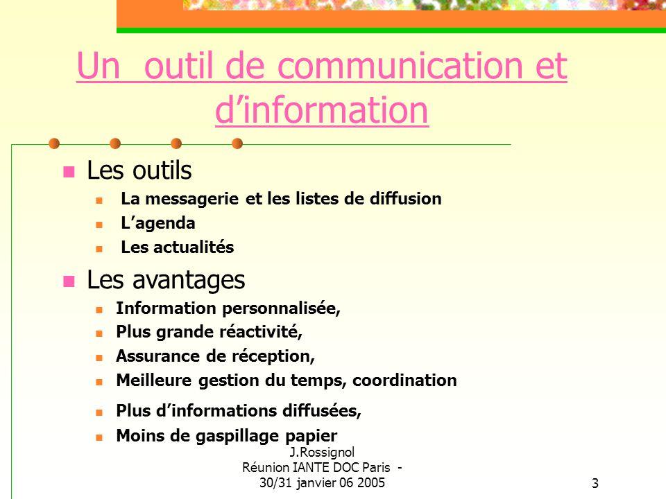 Un outil de communication et d'information