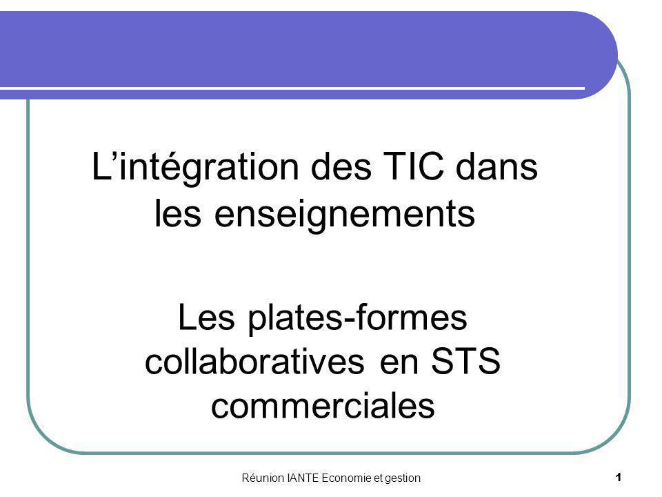 L'intégration des TIC dans les enseignements