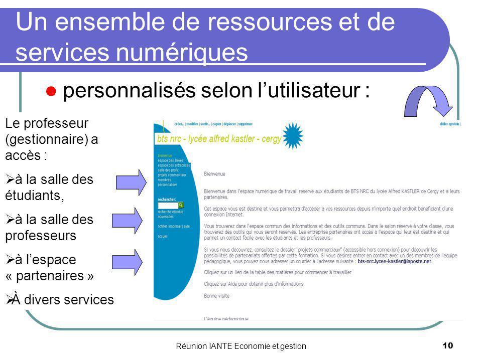 Un ensemble de ressources et de services numériques
