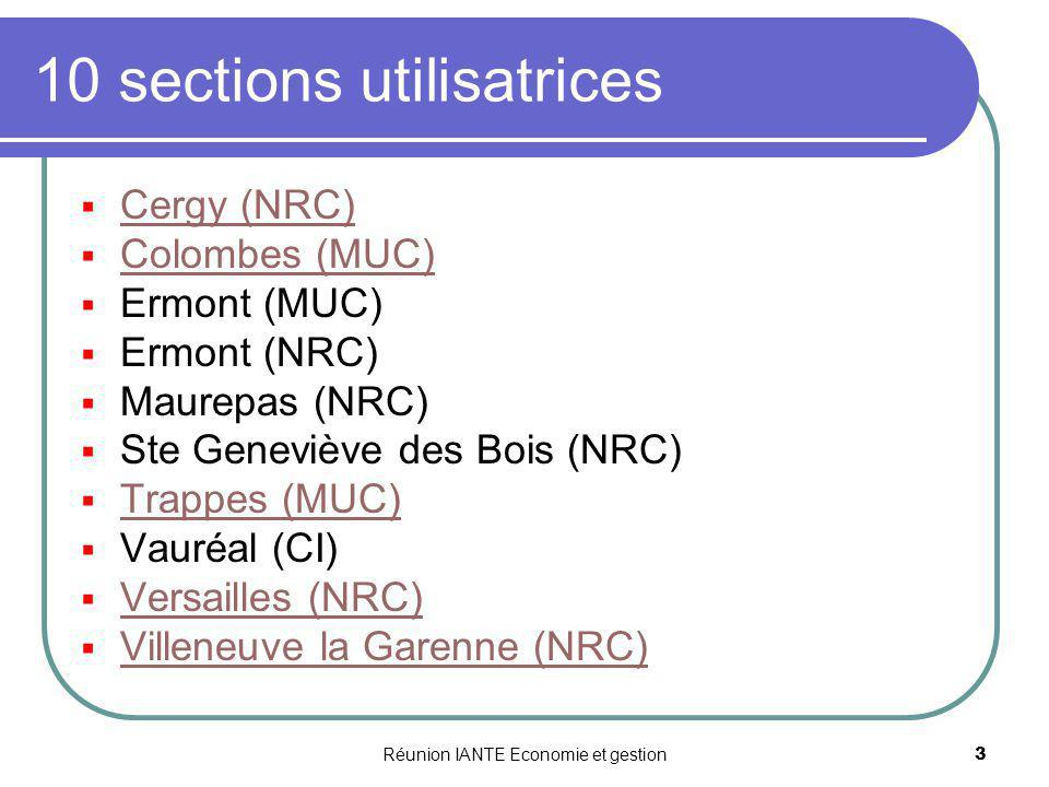 10 sections utilisatrices