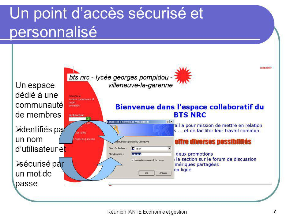 Un point d'accès sécurisé et personnalisé