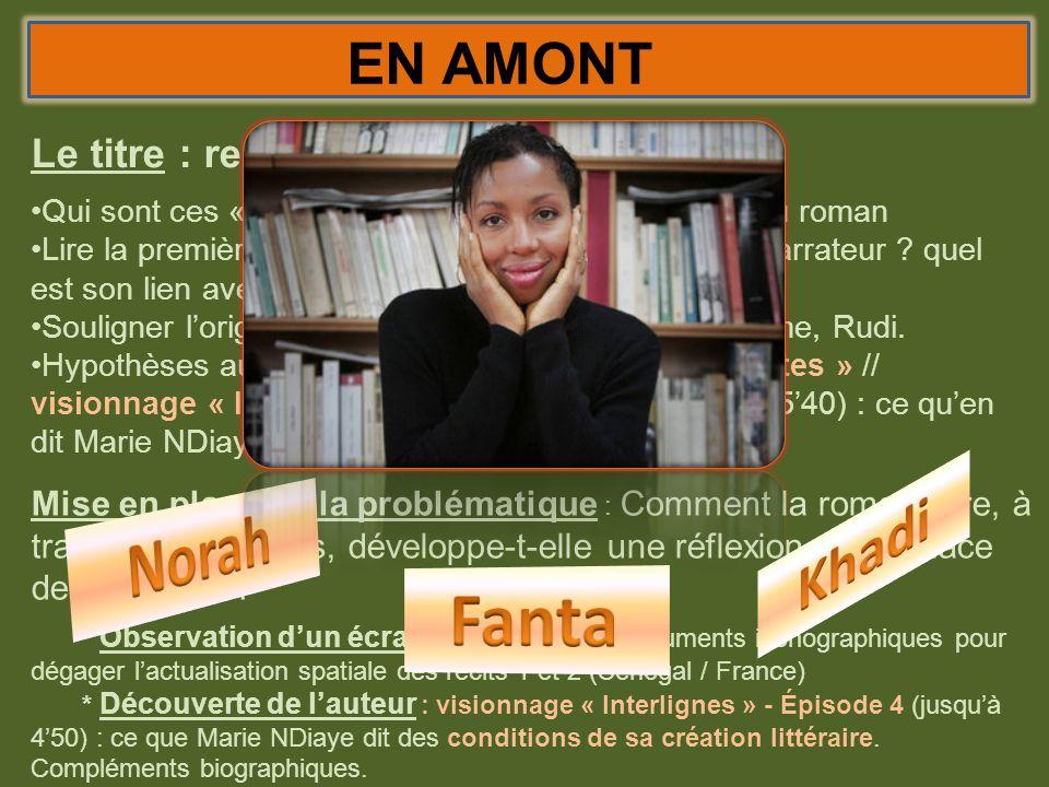 Norah Khadi Fanta EN AMONT Le titre : recherche collective