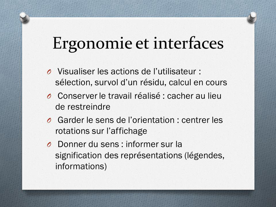 Ergonomie et interfaces