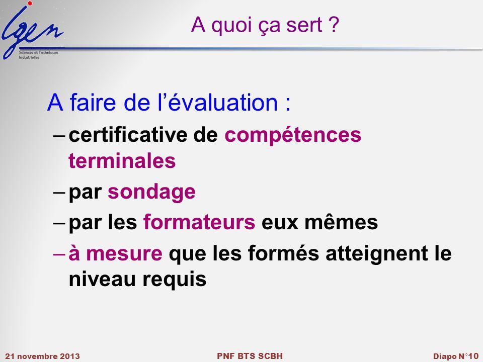 A quoi ça sert A faire de l'évaluation : certificative de compétences terminales. par sondage. par les formateurs eux mêmes.