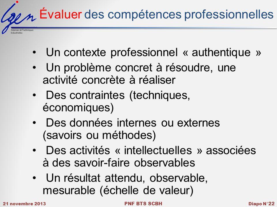 Évaluer des compétences professionnelles