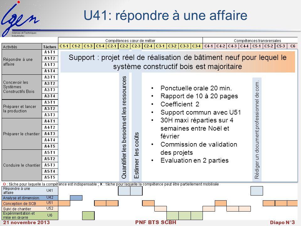 U41: répondre à une affaire