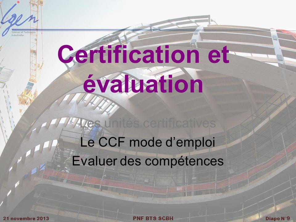 Certification et évaluation